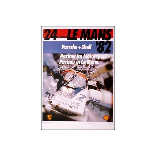 Plakát Porsche 24 Stunden Von Le Mans 1982, 70x50 cm