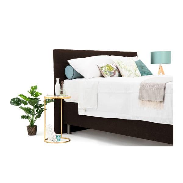 Hnědá boxspring postel VivonitaKoso, 160x200cm