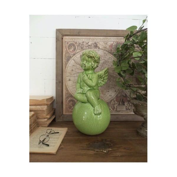 Zöld kerámia szobor, magasság 39 cm - Orchidea Milano