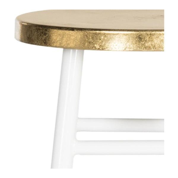 Bílo-zlatá stolička Safavieh Counterstool