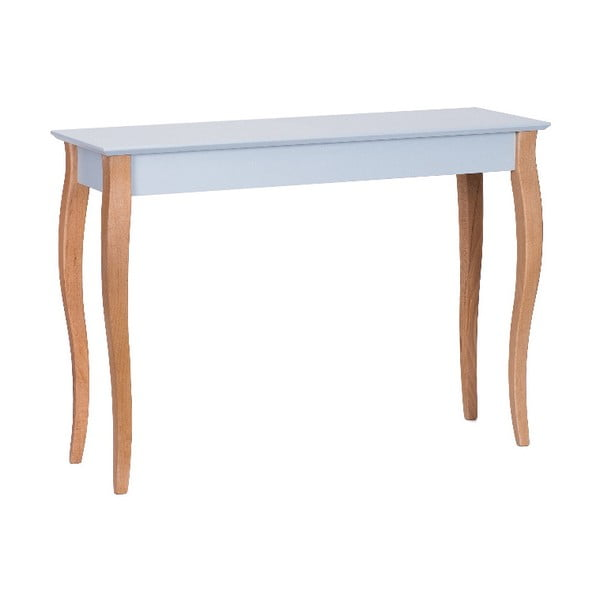 Světle šedý odkládací stolek Ragaba Console,délka105cm