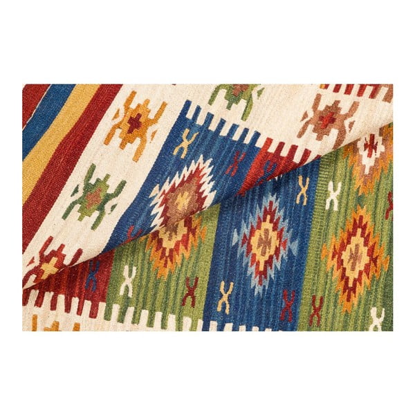 Ručně tkaný koberec Kilim Dalush 008, 90x60 cm