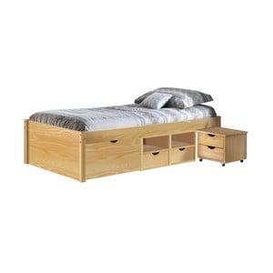 Dřevěná jednolůžková postel s úložným prostorem 13Casa Clas, 90x200cm