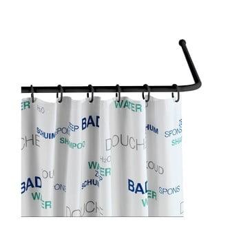 Suport universal pe colț pentru perdea de duș Wenko Black, ø 2 cm, negru