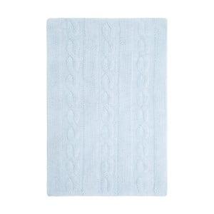 Modrý bavlněný ručně vyráběný koberec Lorena Canals Braids, 80x120cm