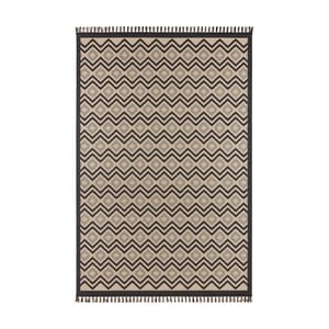 Béžovočerný koberec Hanse Home Intense Luro, 80 x 150 cm