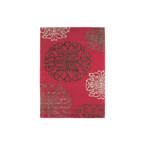 Vlněný koberec Tangier Red 200x300 cm