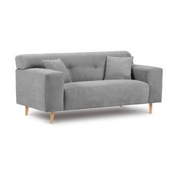 Canapea cu 2 locuri Kooko Home Twist gri
