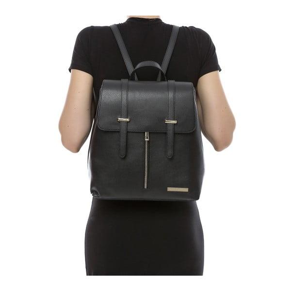 Černý kožený batoh Sofia Cardoni Tefe