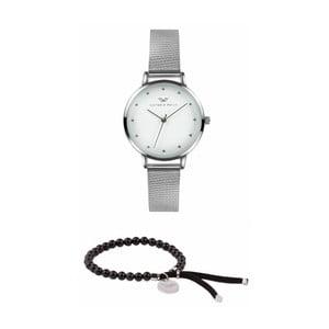 Set dámských hodinek s řemínkem z chirurgické oceli a náramku Victoria Walls Meklena