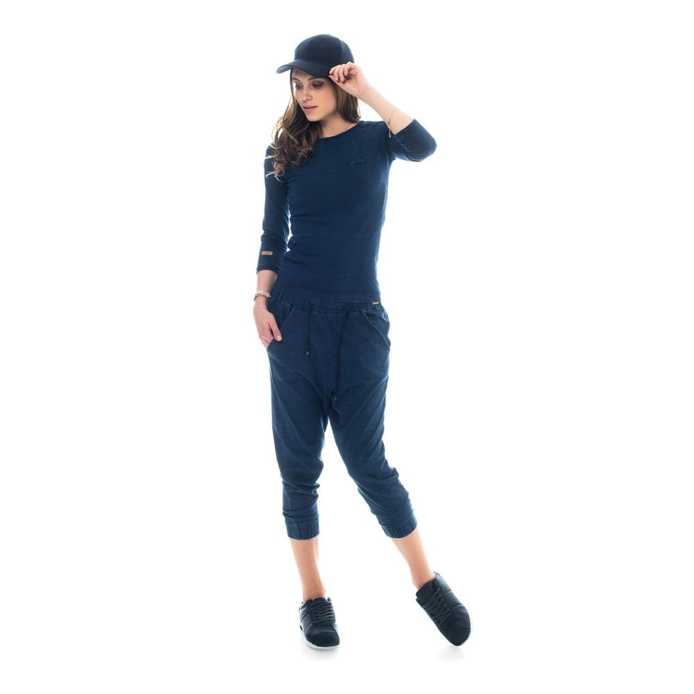 XS · Bavlněné tepláky barvené indigem Lull Loungewear Jaden b6a8fec013