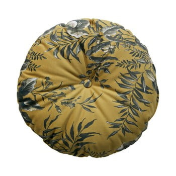 Pernă cu motive florale BePureHome Vogue, ø 45 cm, maro muștar de la BePureHome