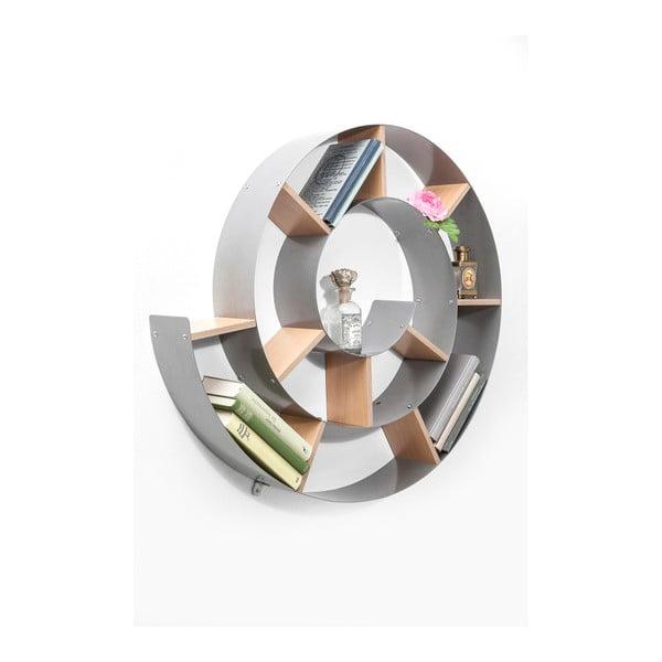 Bibliotecă perete Kare Design Snail, gri