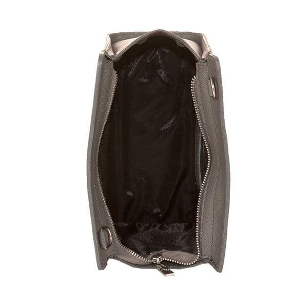 Šedá kožená kabelka Andrea Cardone 1008