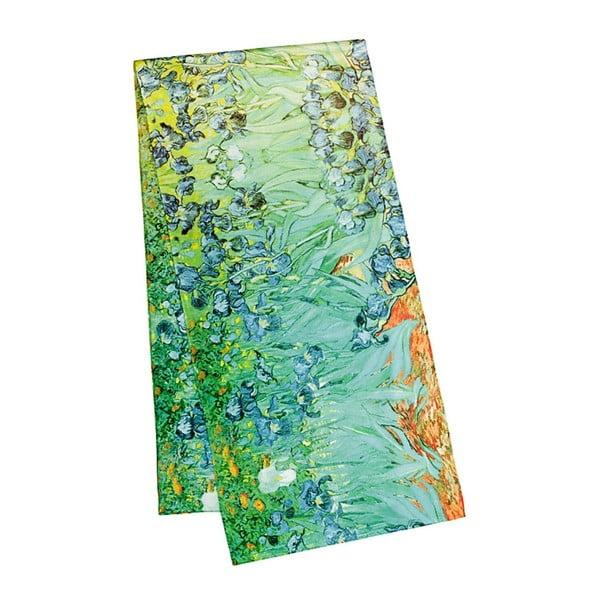 Šatka z hodvábneho saténu Von Lilienfeld Irises