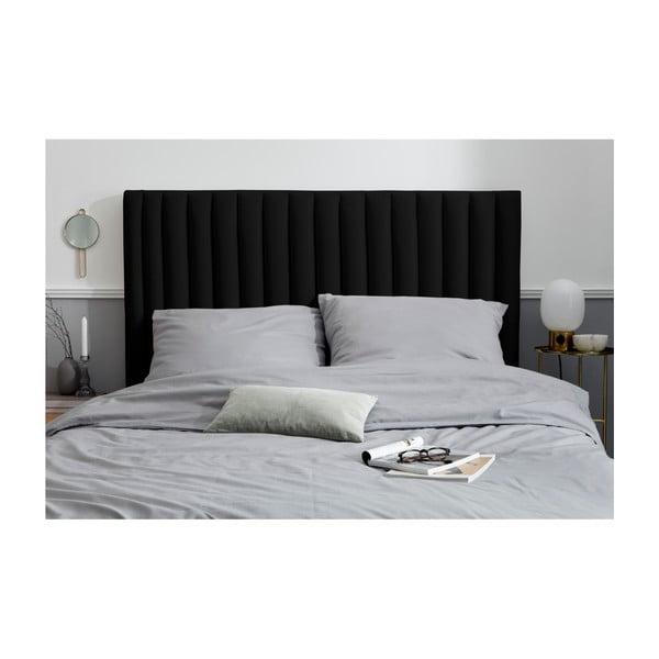 Černé čelo postele Cosmopolitan design NJ, 160x120cm