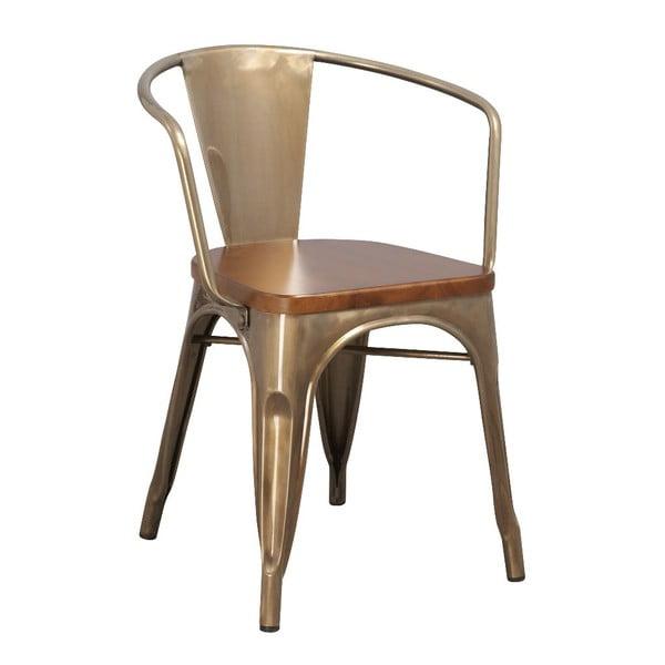 Kovová židle Moycor, kávová
