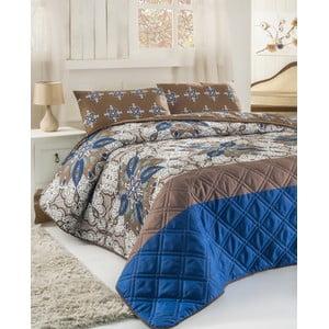 Sada prošívaného přehozu přes postel a dvou polštářů Double 282, 200x220 cm