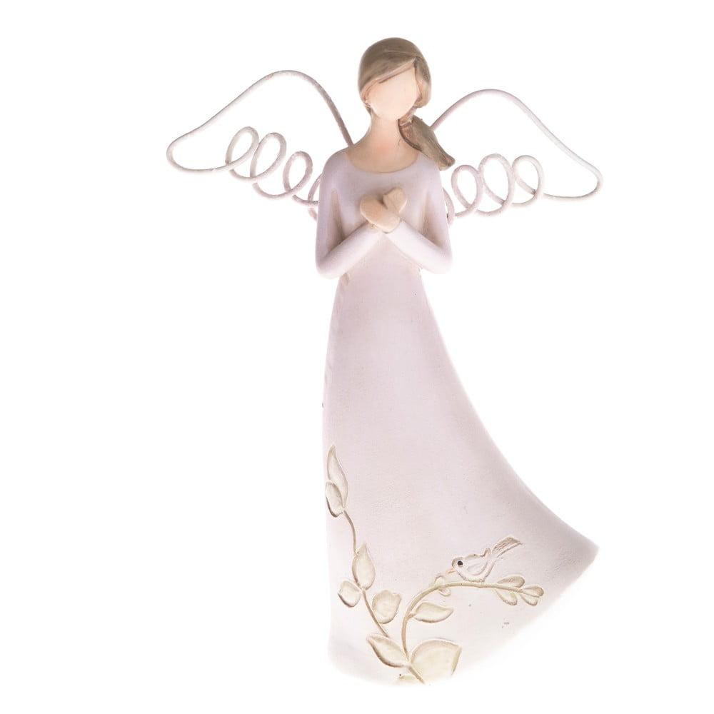 Betonová dekorace ve tvaru modlícího se anděla Dakls, výška 13 cm
