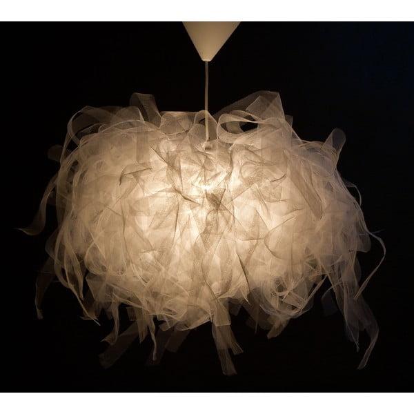 Stropní světlo Ellen Munter vel. L, bílé s bílým kabelem
