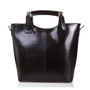 Černá kožená kabelka Massimo Castelli Valeria