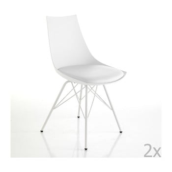 Set 2 scaune Tomasucci Kiki, alb de la Tomasucci
