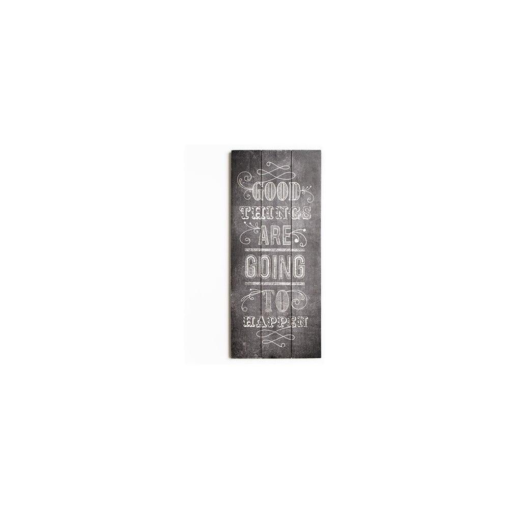 Dřevěný obraz Graham & Brown Good Things,30x70cm