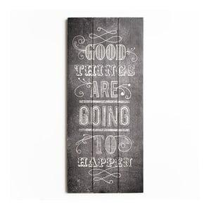 Tablou lemn  Graham & Brown Good Things, 30 x 70 cm