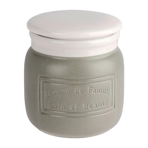 Szaro-biały pojemnik ceramiczny Wenko Maison