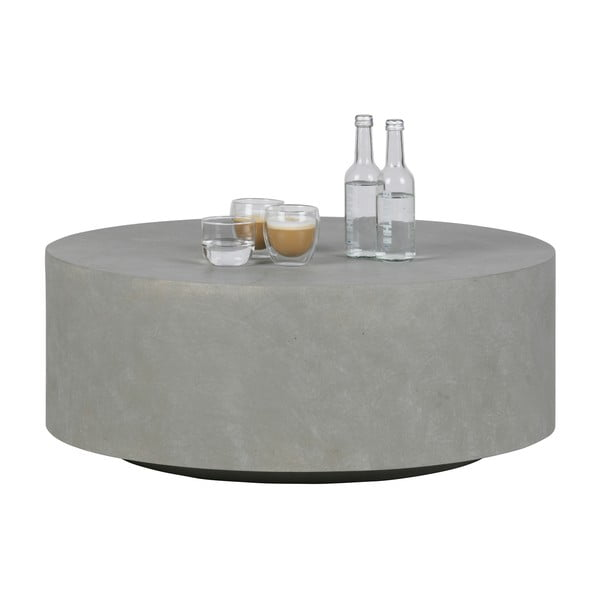 Măsuță de cafea WOOOD Dean, Ø 80 cm, gri