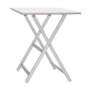 Bílý skládací stůl z bukového dřevaValdomo Maison, 60x80cm