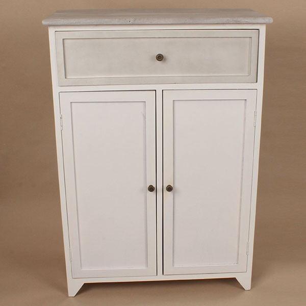 Dřevěná skříňka White Days, 62x87 cm