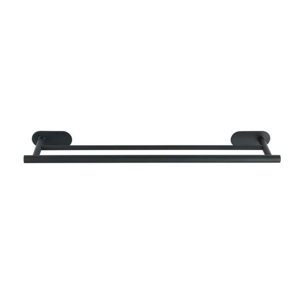 Suport dublu de perete pentru prosoape din oțel inoxidabil Wenko Orea Rail Duo Turbo-Loc®, negru mat