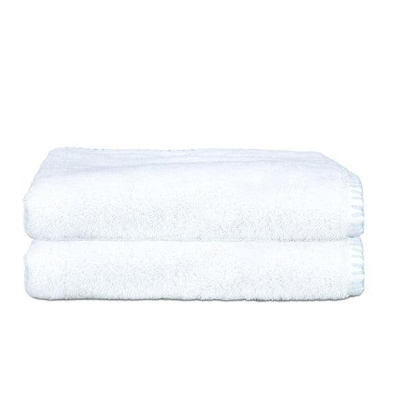 Sada 2 ručníků Whyte 50x90 cm, bílá/modrá
