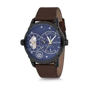 Pánské hodinky s černým koženým řemínkem Bigotti Milano Oliver