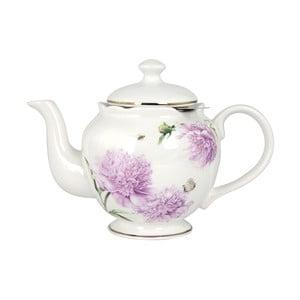 Konvička z kostního porcelánu se sítkem na sypaný čaj Ashdene Pink Peonies, 750ml