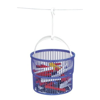 Coș cu 30 cârlige pentru rufe Wenko Peg, violet imagine