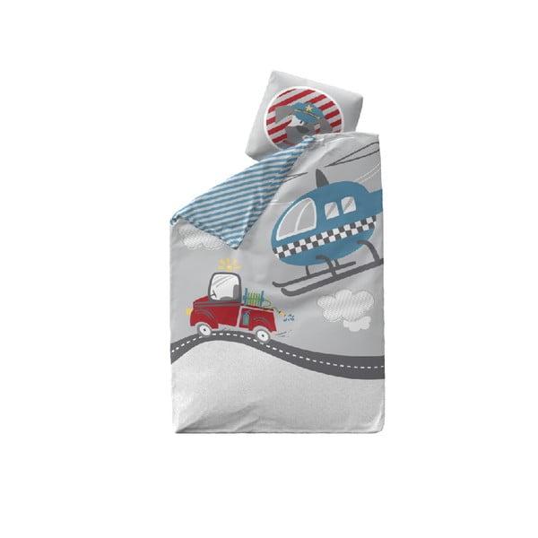 Detské bavlnené obliečky Flexa Heroes, 140×200 cm + 60×63 cm