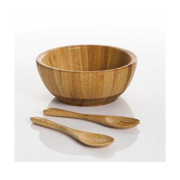 Bambusová sada misky a příboru Bambum Babilo