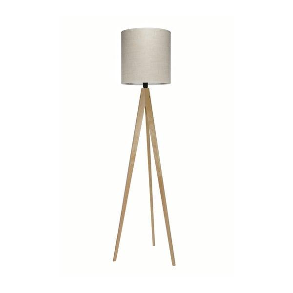 Krémová stojací lampa 4room Artist, bříza, 158 cm