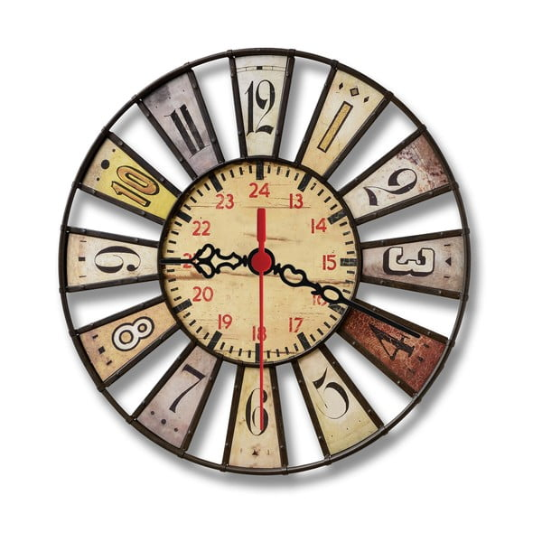 Nástěnné hodiny Double, 30 cm