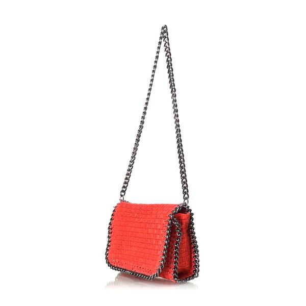 Kožená kabelka Deborah, červená