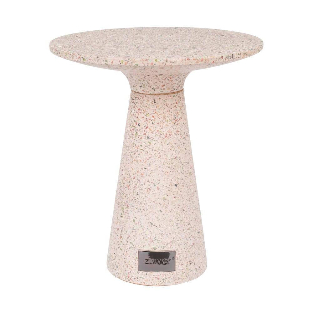 Růžový odkládací stolek vhodný do exteriéru Zuiver Victoria, ø 41 cm