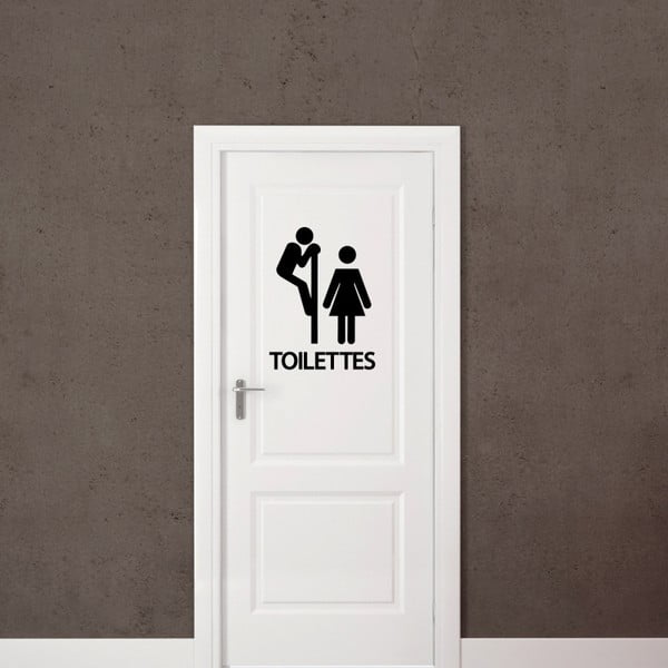 Autocolant Ambiance Curious Man Toilet