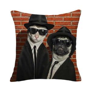 Povlak na polštář Mafia Dog & Cat, 45x45 cm