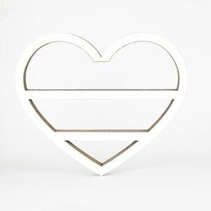 Bílá kartonová police ve tvaru srdce Dekorjinal Pouff Heart, 50x41cm