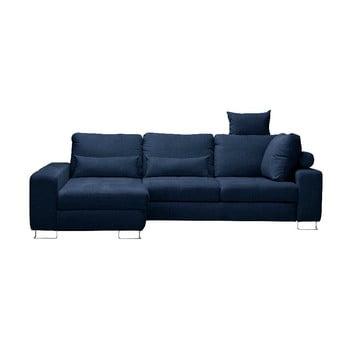 Canapea colţar Windsor & Co Sofas Alpha partea stângă albastru închis