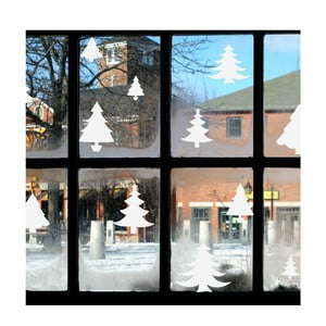 Autocolant electrostatic Ambiance Bright White Christmas Trees