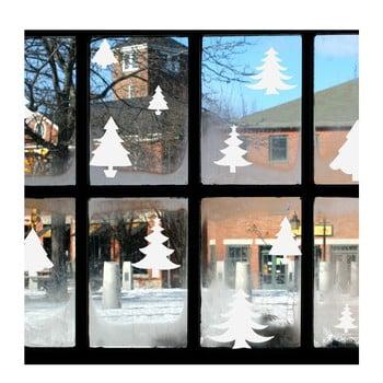 Autocolant electrostatic Ambiance Bright White Christmas Trees