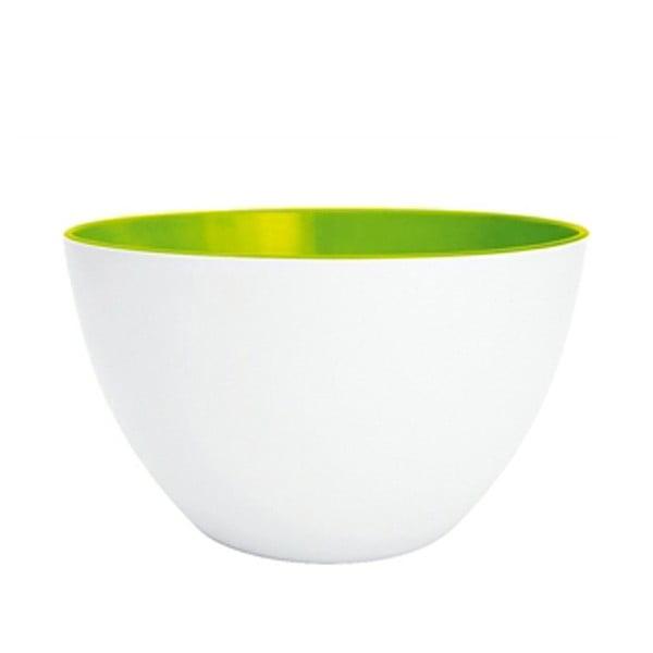 Dvoubarevná mísa Zak 22 cm, bílá/zelená
